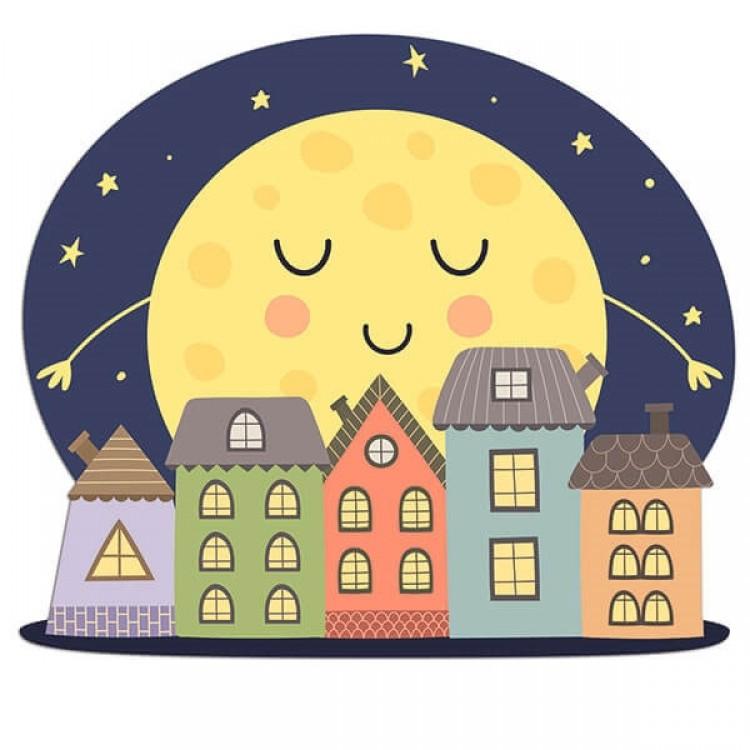 Testiera letto luna