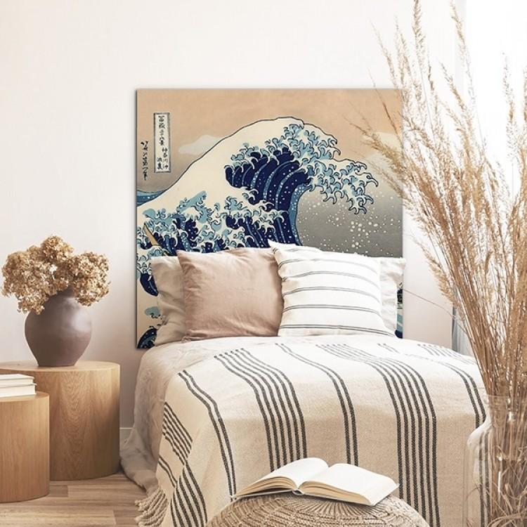 Testiera letto Grande Onda Hokusai