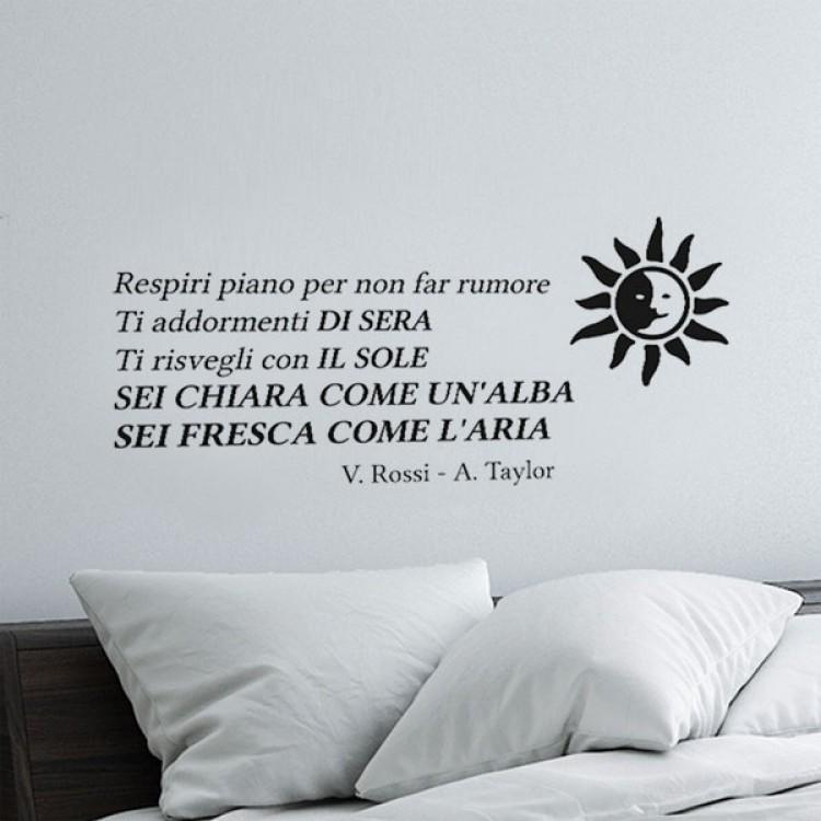 Adesivi Murali Vasco Rossi.Canzone Adesiva Albachiara Vasco Rossi Sticker Murale Musicale
