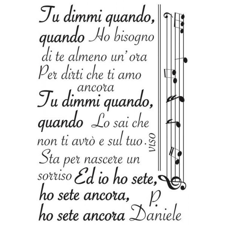 Canzone adesiva Dimmi Quando Pino Daniele