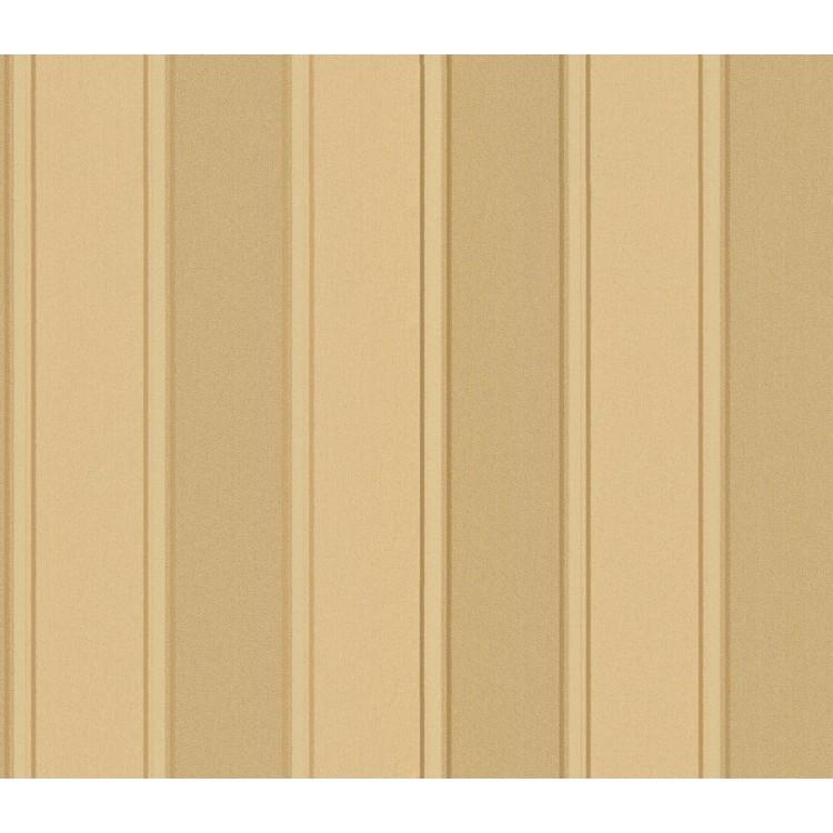 carta da parati righe Beige e Oro Glitter