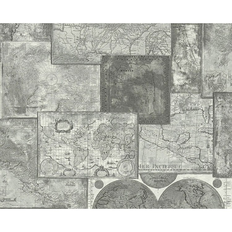 World Map Dark - Carta da parati