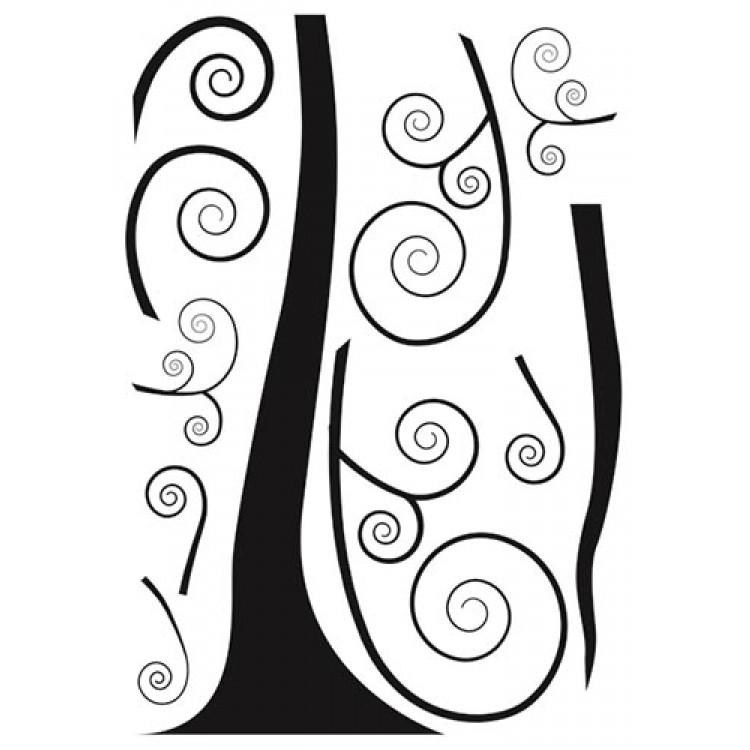 Adesivo murale Black Tree (foglio 1)