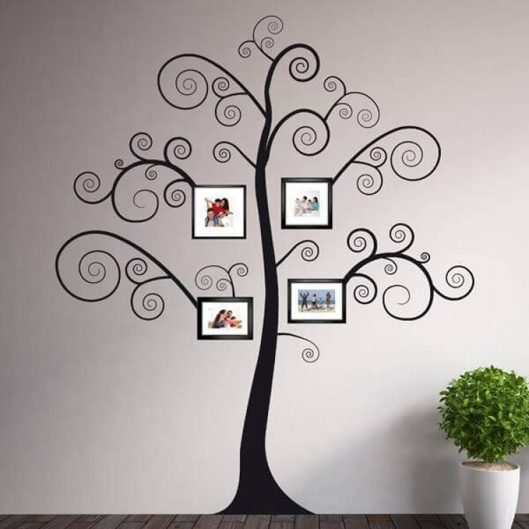 Adesivo murale Black Tree