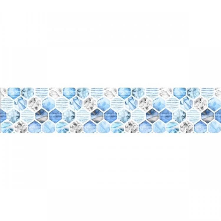 Tappeto Esagoni Azzurri