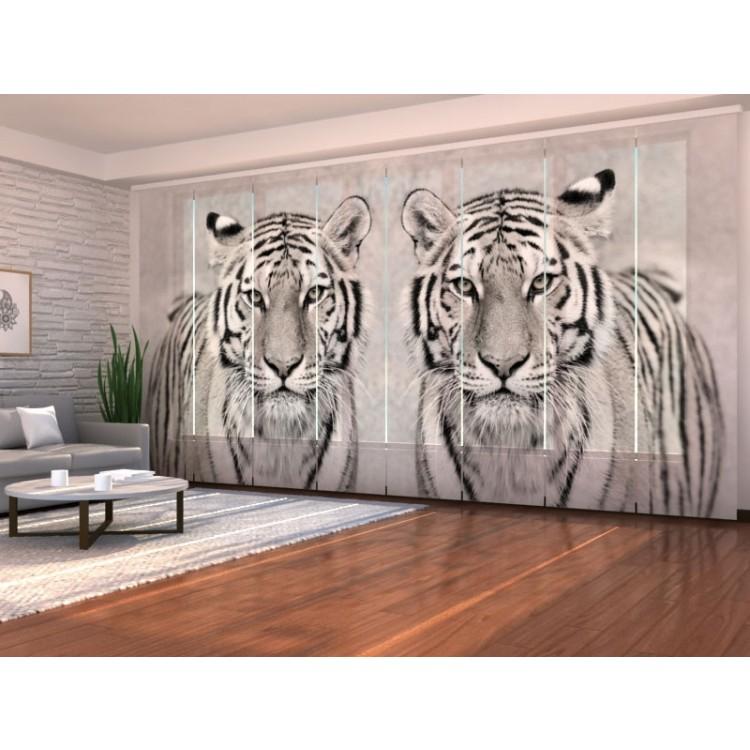 Tenda a 8 pannelli Tigri Bianche