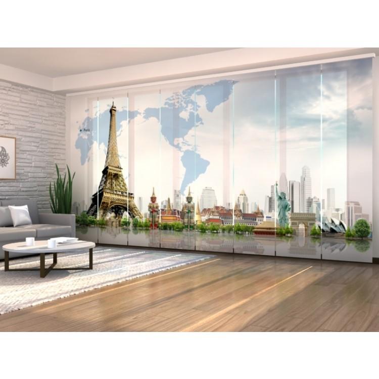 Tenda a 8 pannelli Città del Mondo