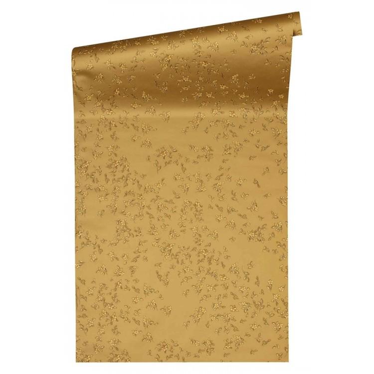 Carta da parati Versace fiori beige oro