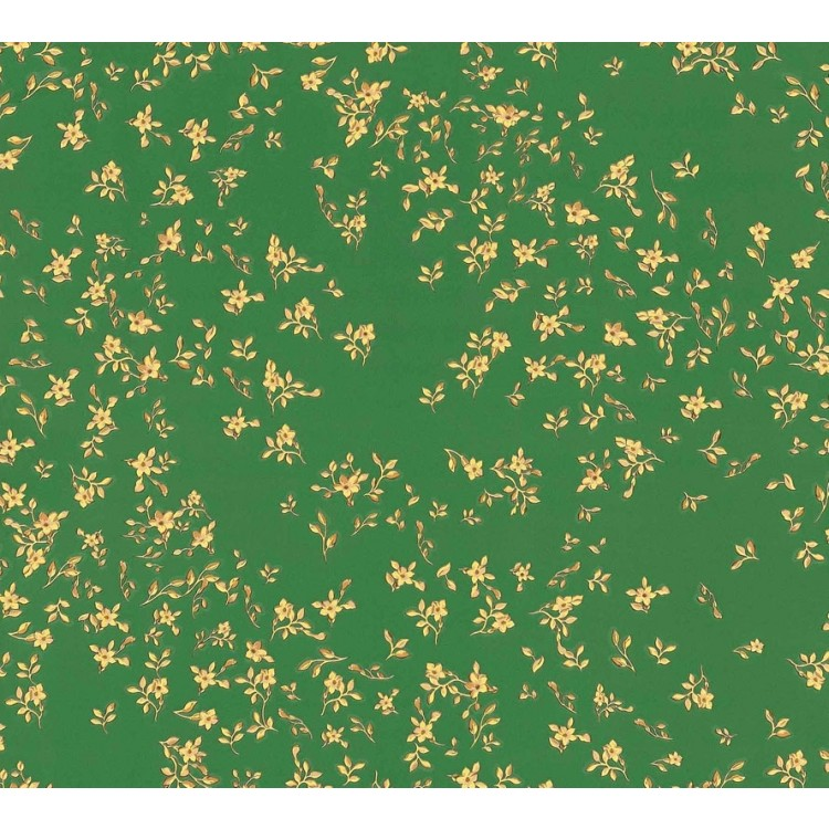Carta da parati Versace fiori verde oro
