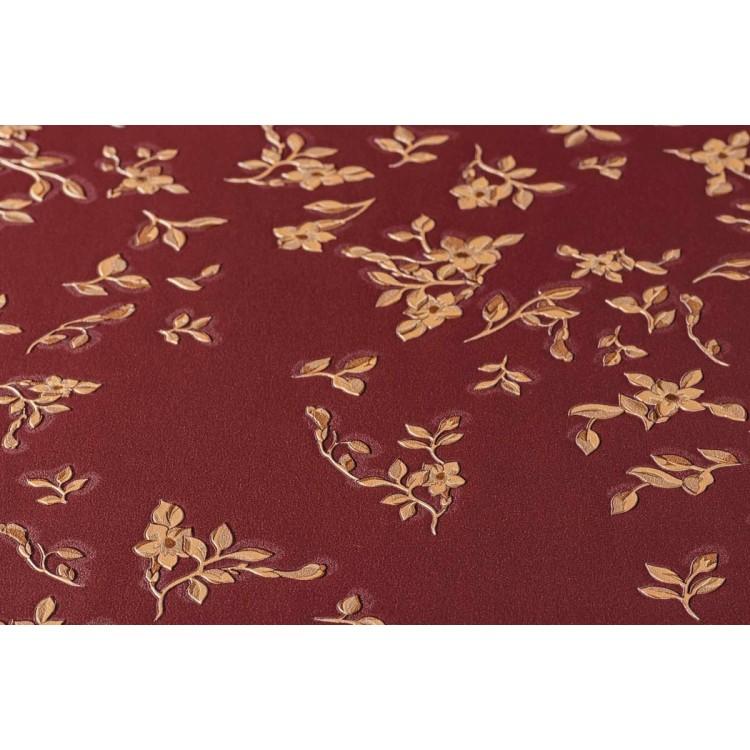 Carta da parati Versace fiori rosso oro