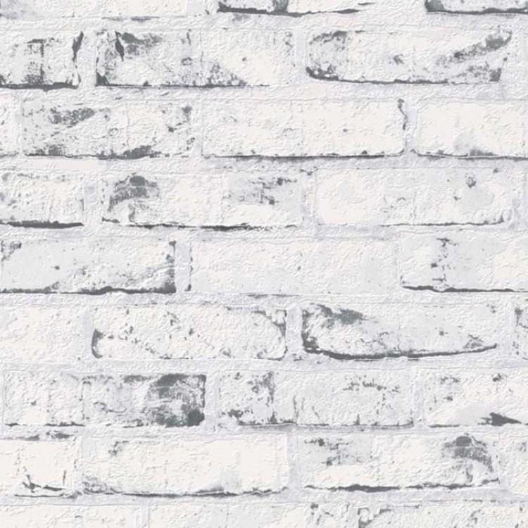 carta da parati mattoni vintage neri