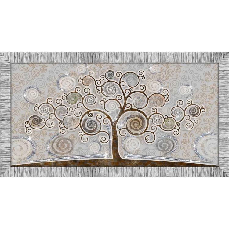 Quadro in legno con glitter Albero della Vita