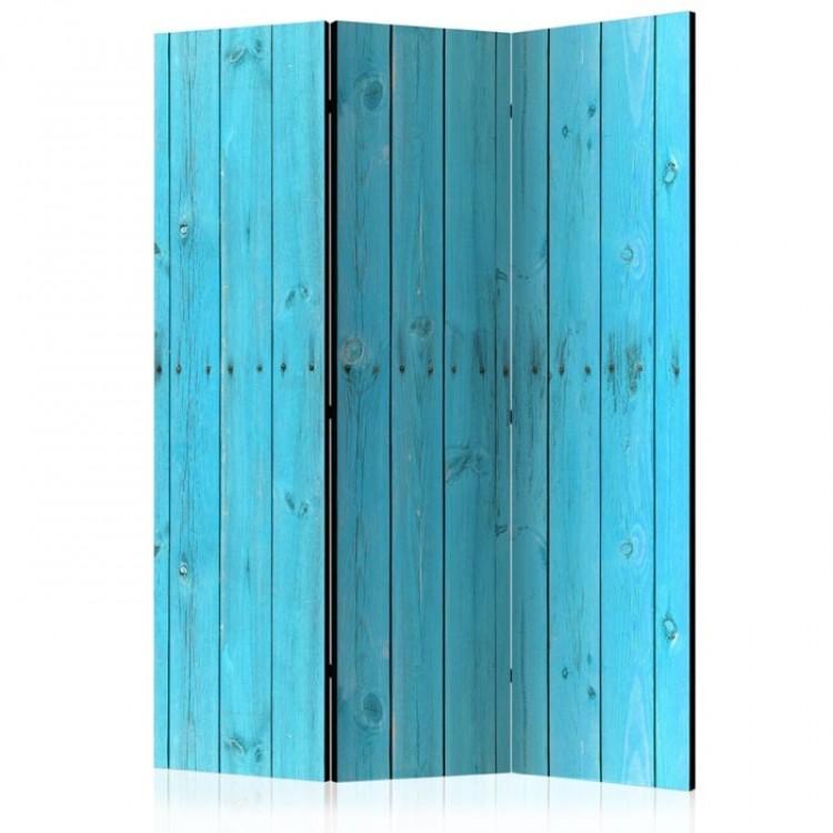 paravento legno azzurro