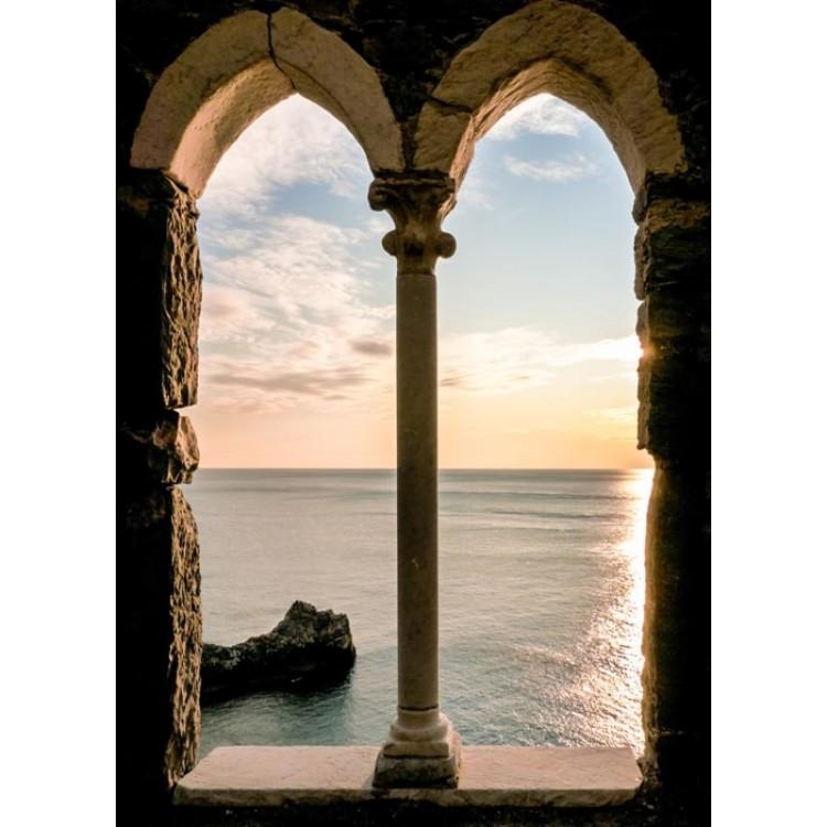 Arco sul tramonto - Finestra adesiva