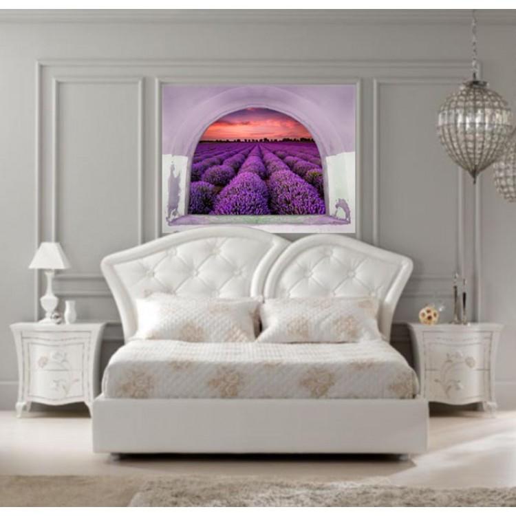 Ambientazione Trompe l'Oeil | Arco sul campo di lavanda