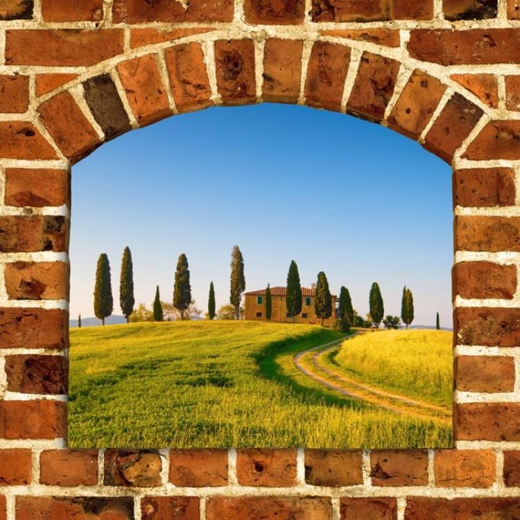 Trompe l'Oeil | Arco sulle colline toscane