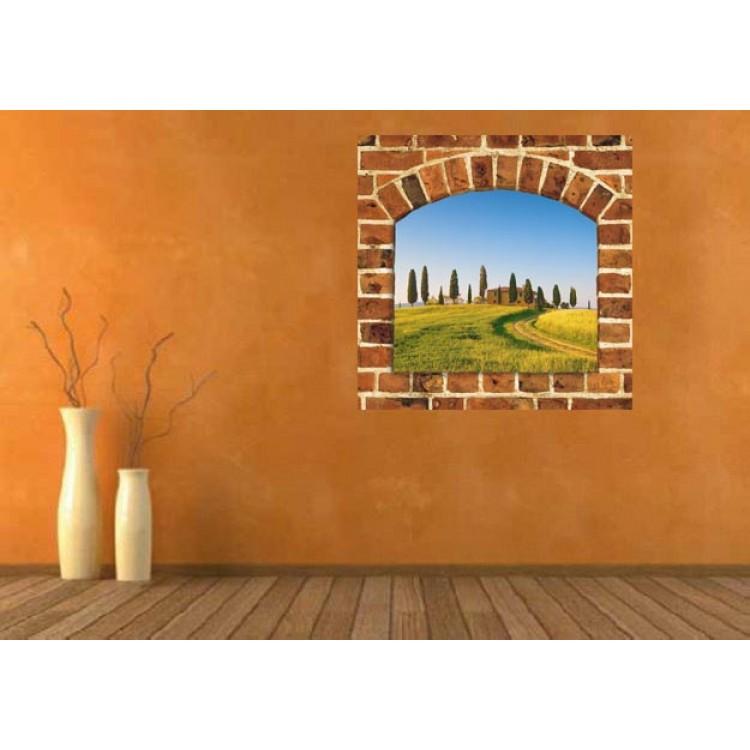 Ambientazione Trompe l'Oeil | Arco sulle colline toscane