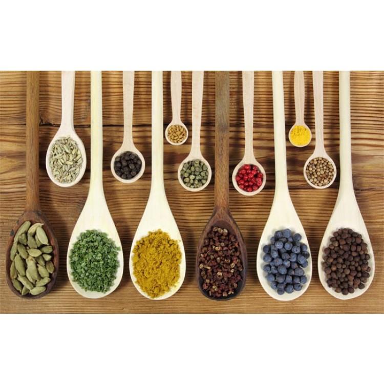 Adesivo per cucina | Cucchiai con spezie