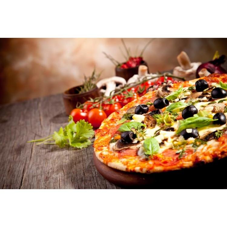 Adesivo per cucina   Pizza sul tagliere