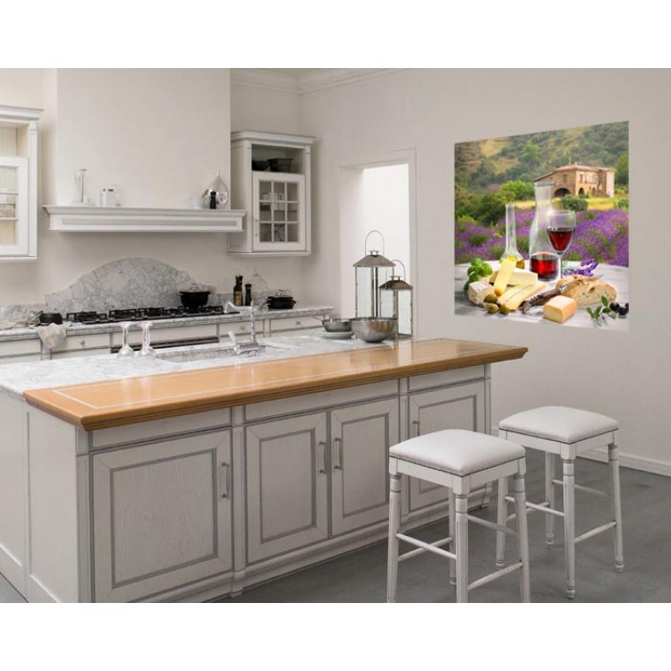 Cucina provenzale adesivo murale per cucina di alta qualit for Paraschizzi adesivo cucina
