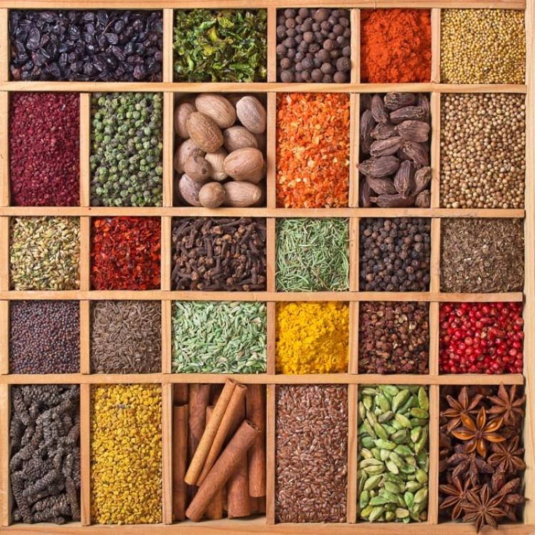 Adesivo per cucina | Spezie indiane