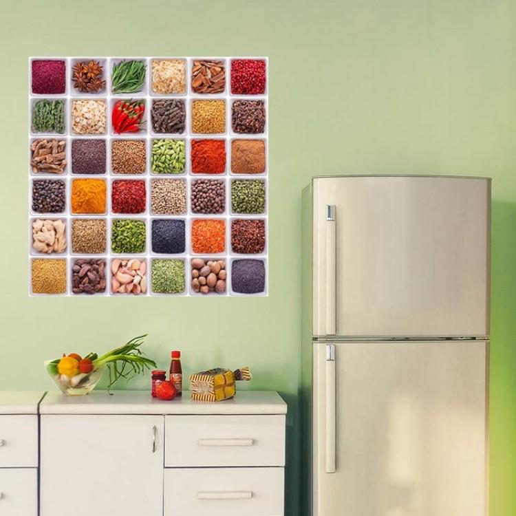 Adesivo per cucina | Spezie mediterranee ambientazione