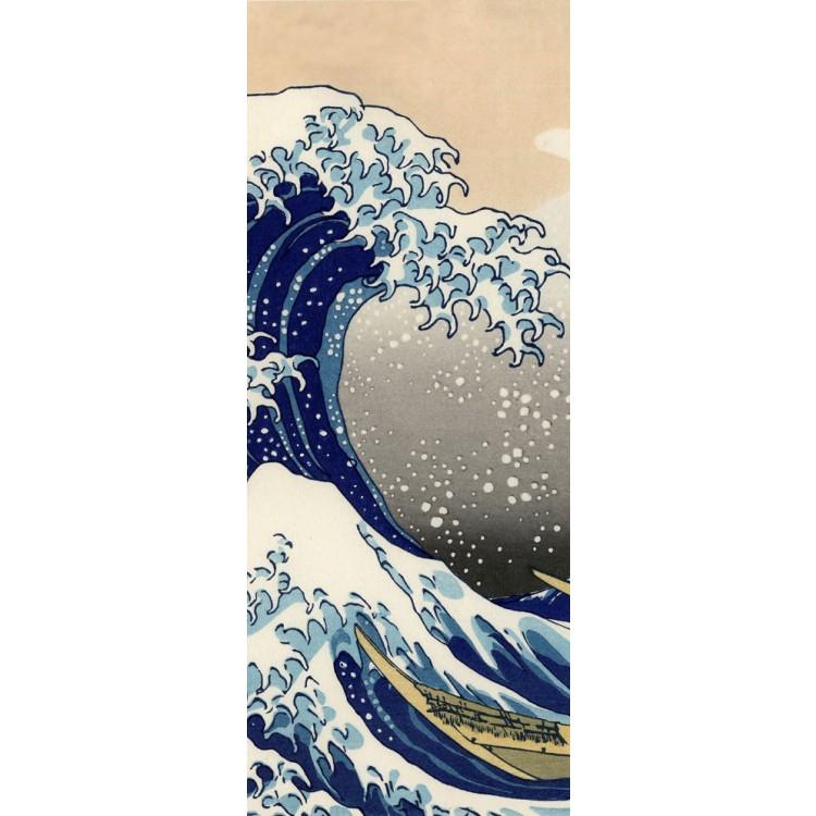 adesivo per porta Adesivo per porta La Grande Onda di Hokusai