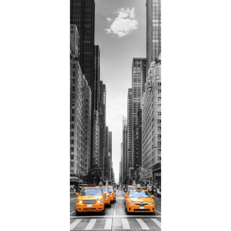 adesivo per porta taxi new york