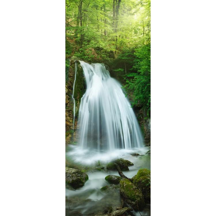 adesivo per porta cascata nella foresta