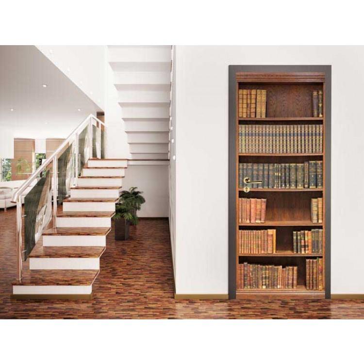 Adesivo porta Libreria Antica ambientazione
