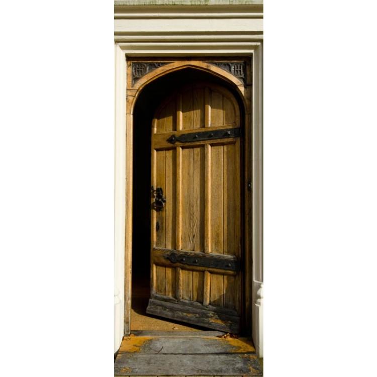 adesivo per porta portale medievale