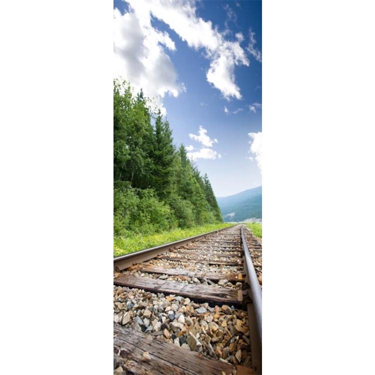 adesivo per porta ferrovia