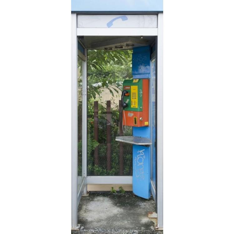 adesivo per porta cabina telefonica