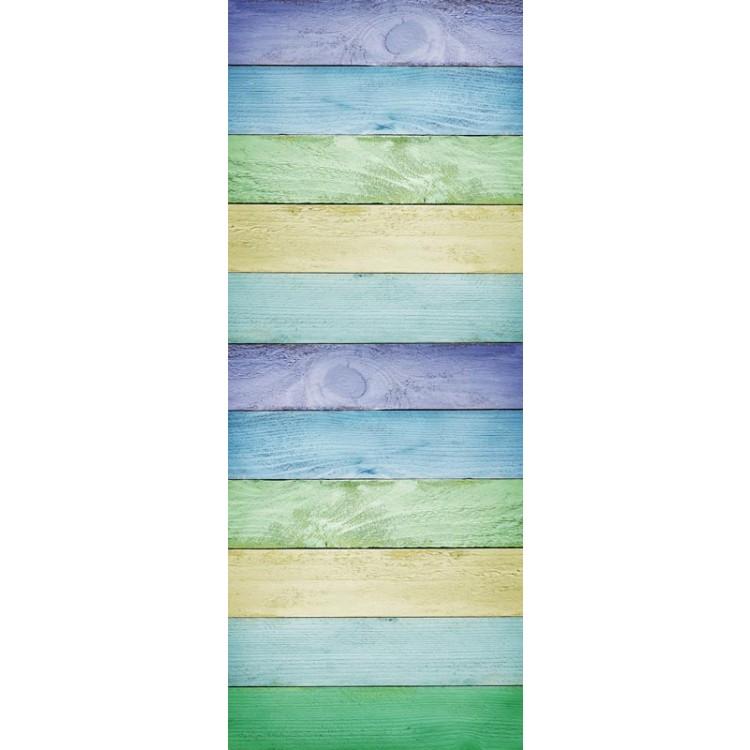 adesivo per porta assi legno colorato