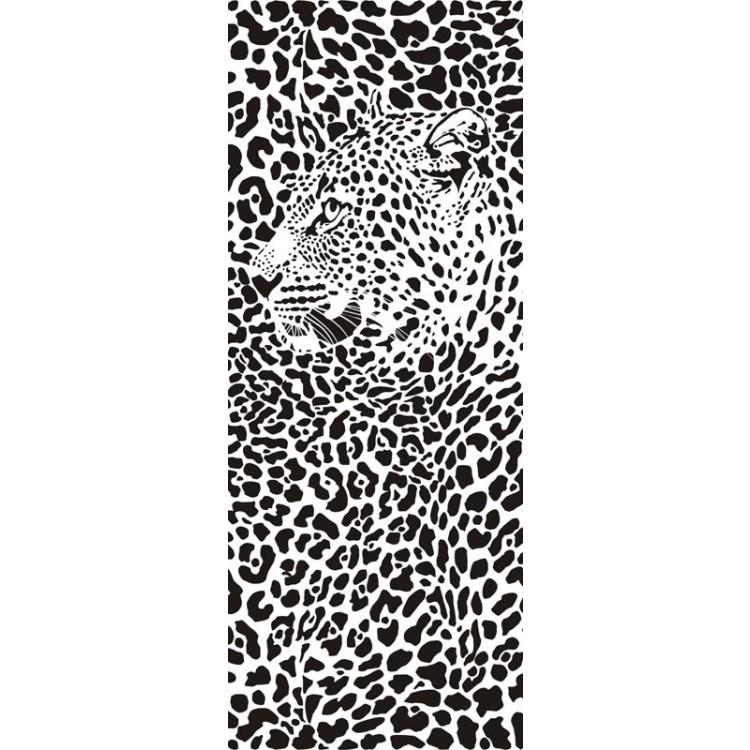 adesivo per porta giaguaro
