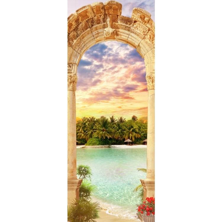 adesivo per porta arco sul paradiso