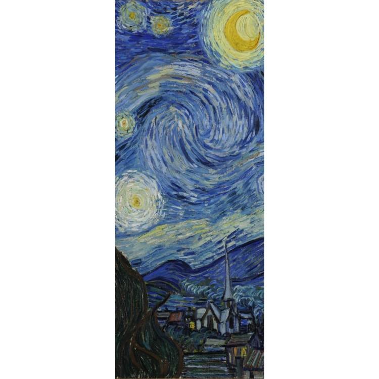 adesivo per porta notte stellata di klimt