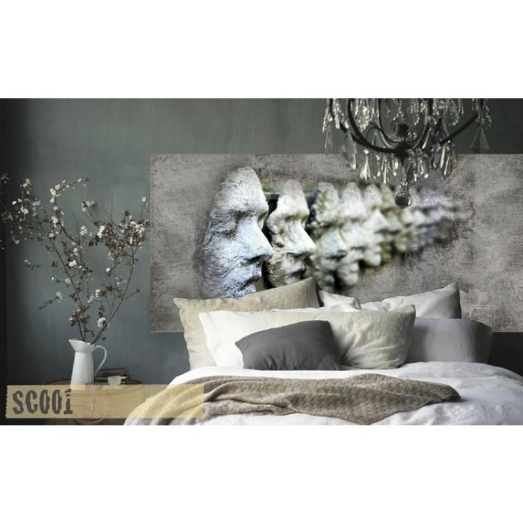 Mask - Testata letto adesiva alta qualità (ambientazione)