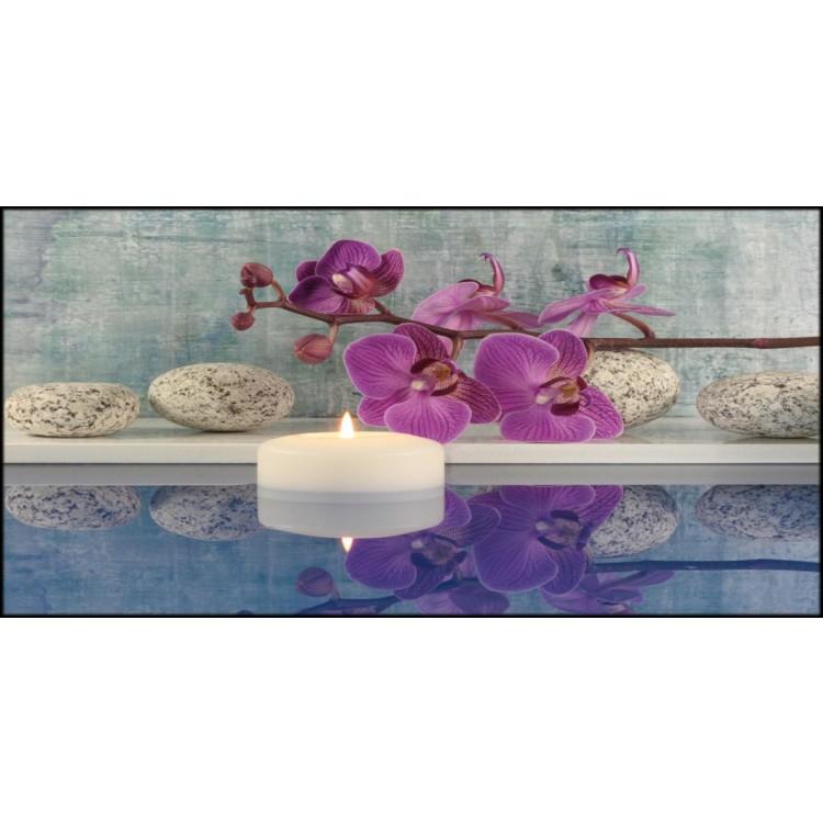 Quadro su tela Orchidea in Blu