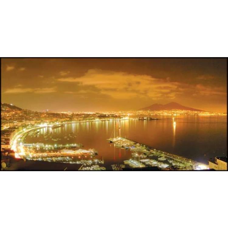 Napoli di notte   Quadro su tela