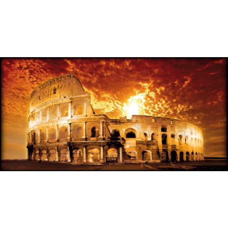 Roma Colosseo dorato   Quadro su tela