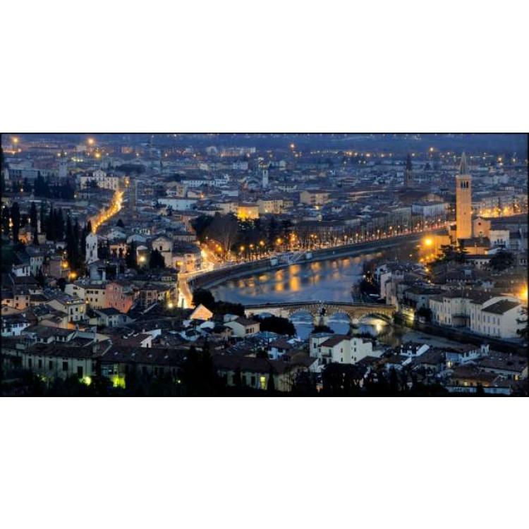 Verona di sera | Quadro su tela