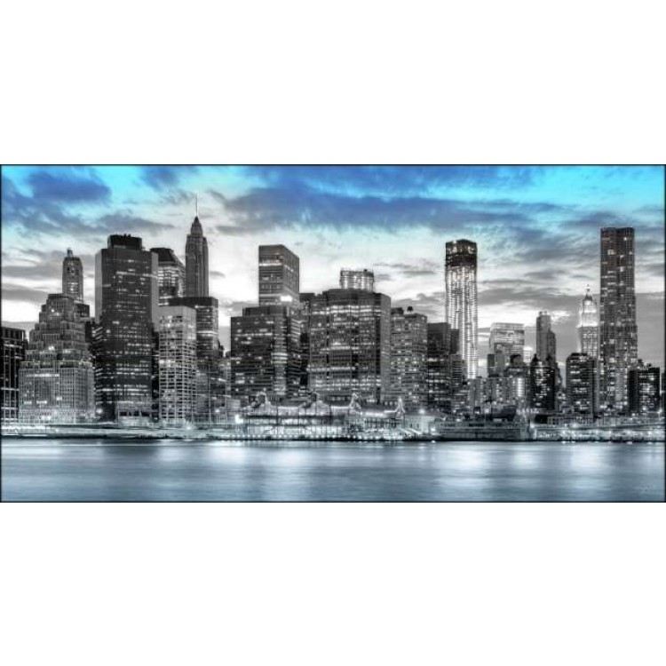 Panoramic Blue NY | Quadro America su tela