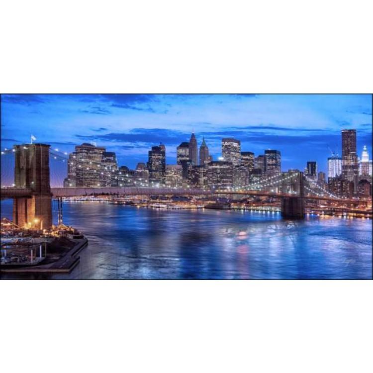 Ponte di Brooklyn Blue   Quadro America su tela