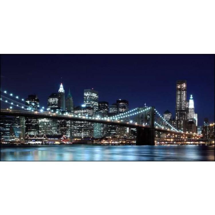 Brooklyn by Night   Quadro America su tela