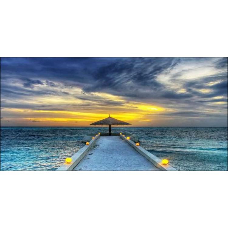 quadro canvas tramonto blue