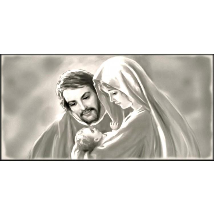 Quadro Sacra Famiglia grigia