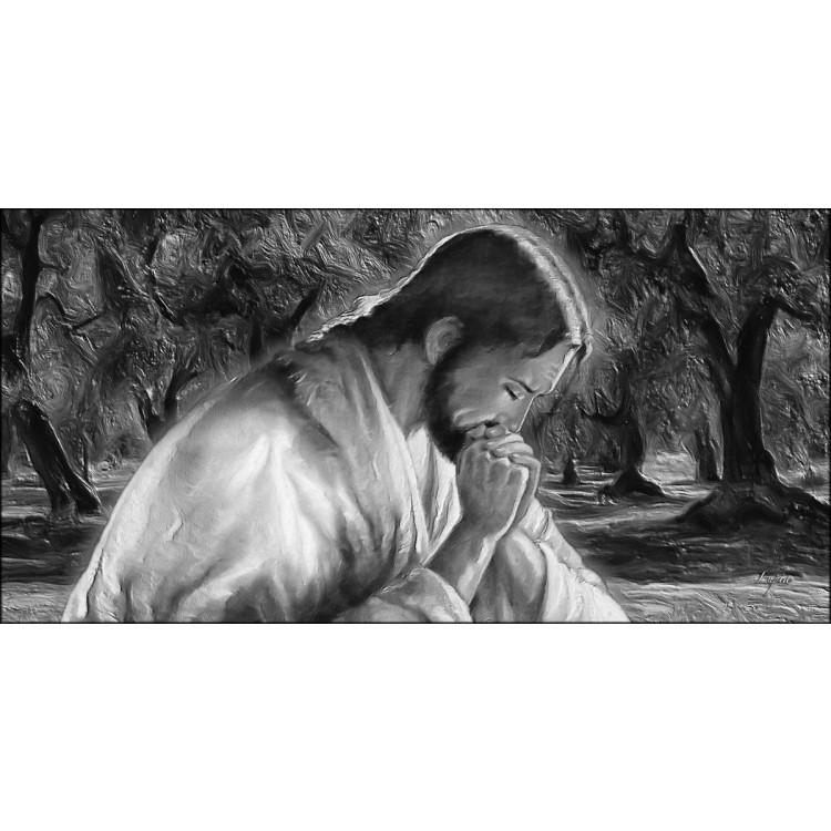Quadro Gesù bianco e nero