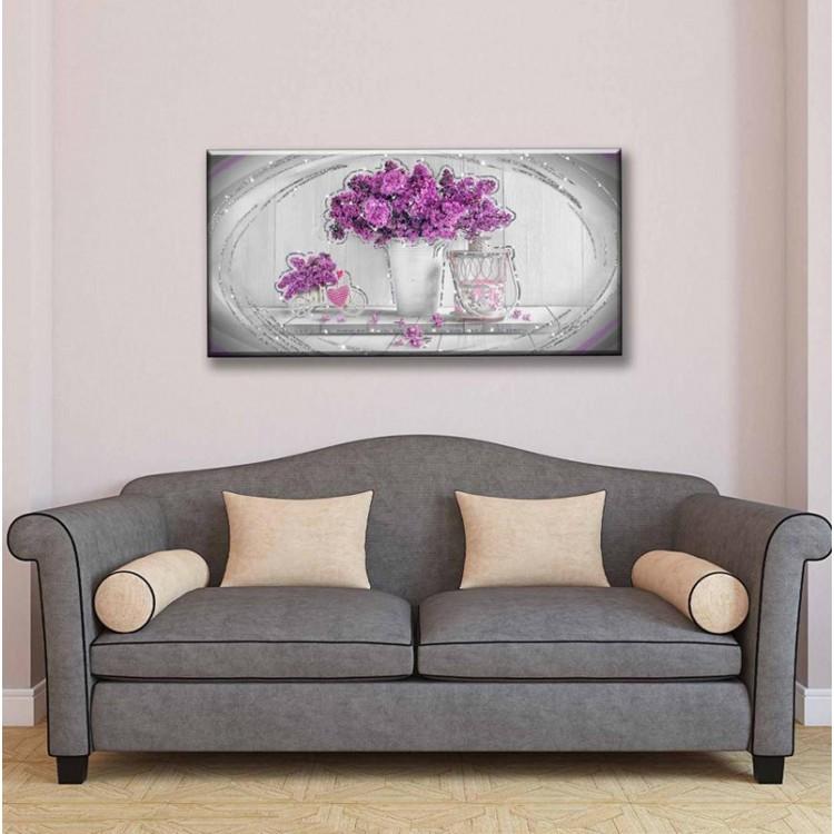 quadro glitter Purple Flowers