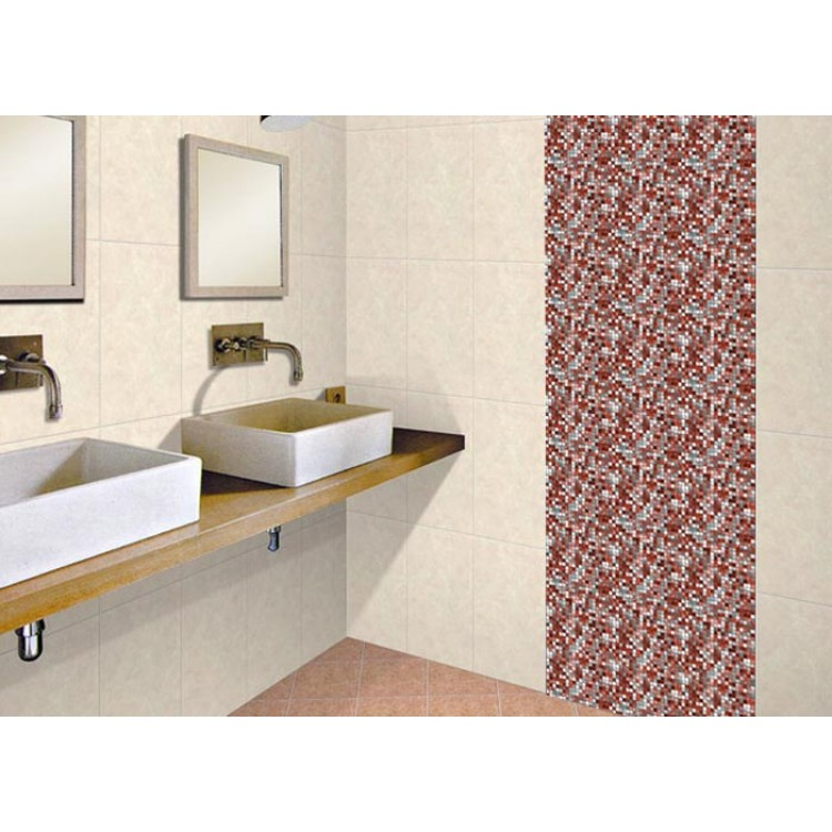 Mosaico rosso carta da parati adesiva - Carta adesiva rivestimento mobili ...